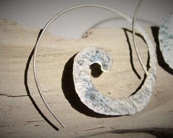 Sterling Silver One-piece Tribal Spirals