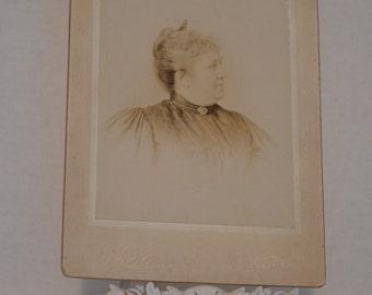 Vintage Photography Older Woman Profile headshot