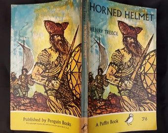 Vintage Puffin Book Horned Helmet by Henry Treece. Printed 1965. 3'6