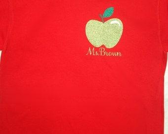 Personalized Glitter Teacher Shirt!