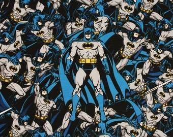 Batman Dark Night Fabric made in Korea, DC Comics Fabric by Half Yard