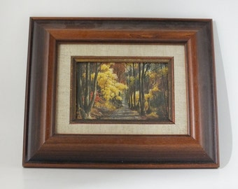Tiny Picture Frame Fall Colors Scene