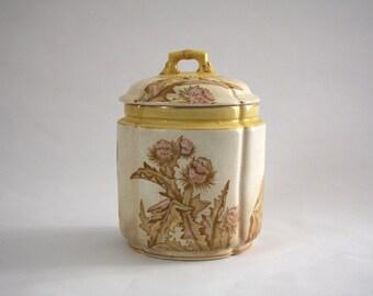 The Potters Wheel Burroughs Mountford Thistle Biscuit Jar