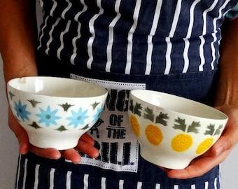 2 RARE Sacavem soup bowls porcelain ceramic bowl glass soup bowls ice cream pasta bowls portugal pottery of portugal portuguese ceramics