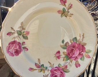 Pretty in Pink Royal Swan Cabinet Plate