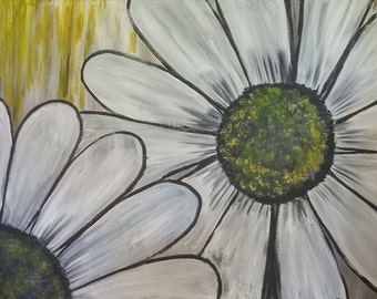Oopsy Daisy painting on canvas