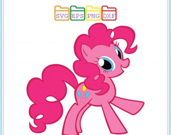My Little Pony Pinkie Pie, Svg Dxf Png Eps, Cutting File, Studio Cut Files, Silhouette Studio,Cutting Machines,Cricut Cameo,Instant Download