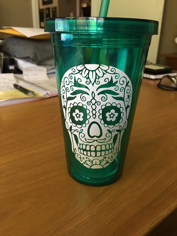 Sugar Skull cup with name or monogram