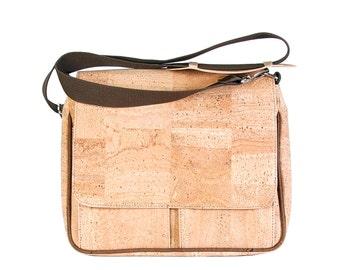 Messenger bag, Cork pocket with flap
