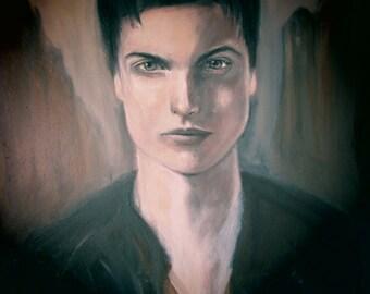 Portrait oil painting on canvas