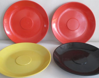 Vintage Florence Prolon melamine Plates set of 4