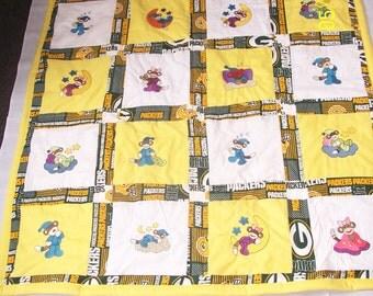 Sock Monkey Packer Baby Quilt