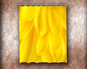 Yellow Petals Shower Curtain. Bath, Bathroom