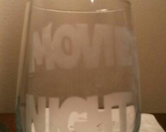 Movie  theme  wine glasses
