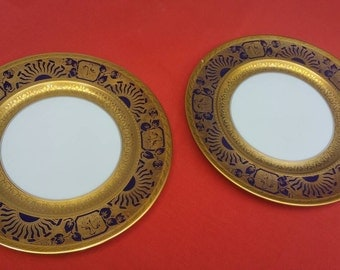 2 Bavarian Selb H & Co. Heinrich and Company Plates.