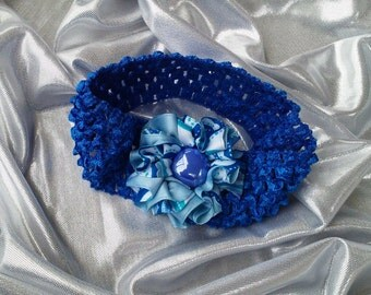 SALE Girls Blueberry Head Band with Rhinestone