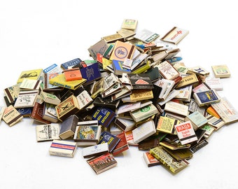 Collection of 250 match boxes 70s-80s