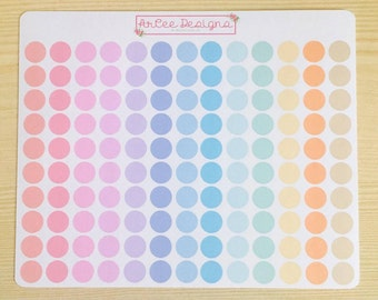 Planner Stickers: Mini Pastel Dots for the Happy Planner, EC, Filofax, Kikki.K and more!
