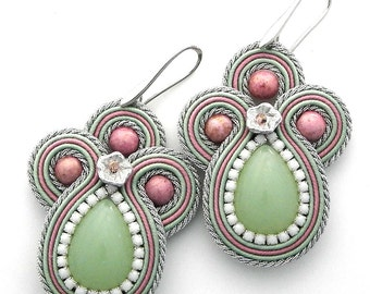 Handmade Candy soutache earrings New