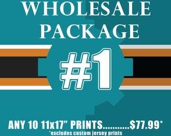 "WHOLESALE PACKAGE #1 Includes TEN(10) 11x17"" prints"