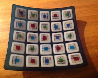 Fused Glass Decorative Plate