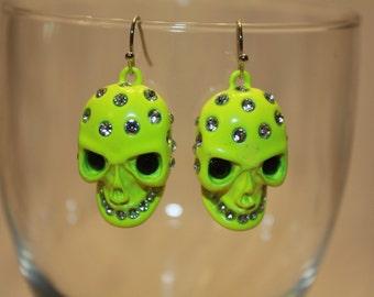 Neon Skull earrings