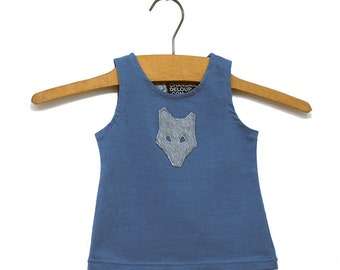 Camisole blue Mini-pop