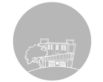 """Georgia Theatre Gray 6"""" X 6"""""""