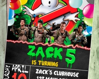Ghostbusters Party, Ghostbusters Birthday, Ghostbusters Invitation, Ghostbusters Birthday Party Invitation