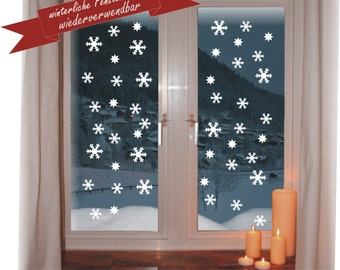 """Super nice picture of window """"Snowflake"""" reusable Christmas 