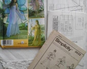 Fairy dress pattern,fairy costume pattern,simplicity faerie dress pattern,simplicity 3632,adult fairy costume pattern,simplicity pattern,