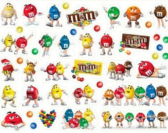 Stickers for planner with M&M's