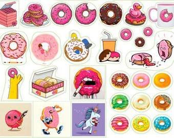 Stickers for planner with donut Dunkin' Donuts