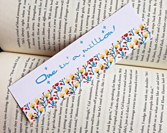 One in a million bookmark, page marker