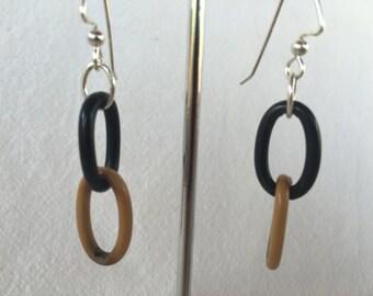 Vintage Celluloid Link Earrings