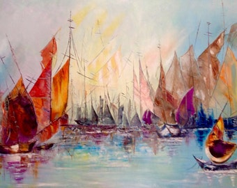 Sailing ships fleeting