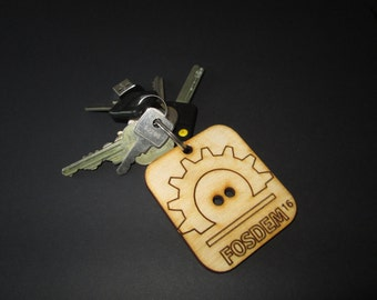 Custom made wooden keychain 25 pcs