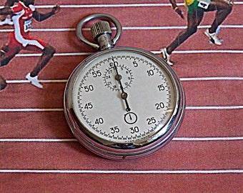 Vintage stopwatch. Soviet stopwatch. Chronometer. Made in USSR.