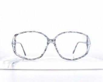 1980's grey tortoiseshell vintage glasses frames