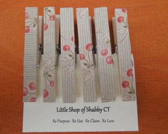 Clothespin Magnets - Set of 6