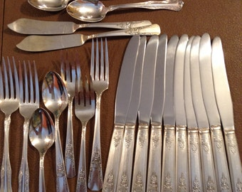 Silver ware flat ware vintage for use or crafts