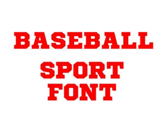 Baseball font svg - sport font svg , Cricut Fonts, Silhouette Cameo font - alphabet svg, eps, dxf