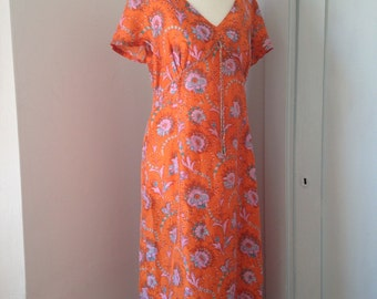 L.k bennett silk flower print dress, size euro 44, about a uk 14