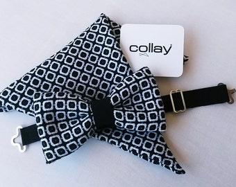 Bow tie BLACK & WHITE BOWTIE and Clutch + pochette