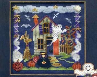 Mill Hill Button & Beads Cross Stitch Kit BOO HOUSE