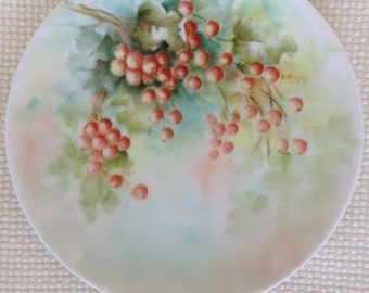 Small Hutschenreuther Gelb Handpainted Collectable Plate