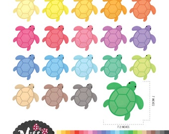 30 Colors Turtle Clipart - Instant Download