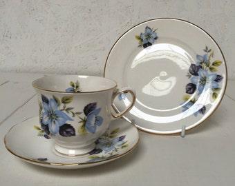 Gainsborough vintage tea cup trio