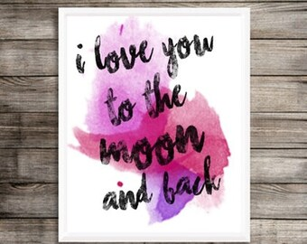 I Love you to the Moon and Back Wall Art - Decor