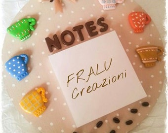 Shopping list notebook with fimo